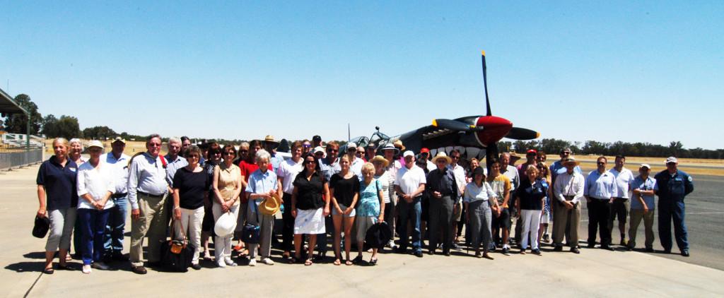 AAHOF Members, inductees and their families visiting Temora Aviation Museum